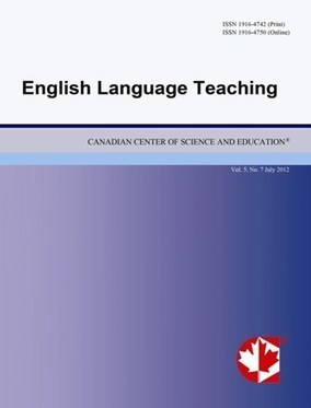 English Language Teaching: international journal | OER for ELT - Teaching support: Academic Articles | Scoop.it