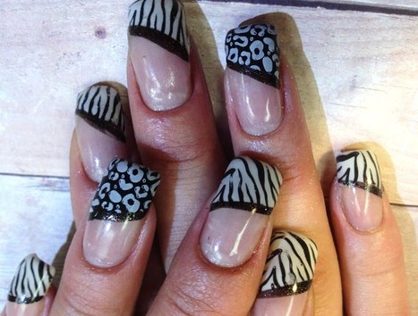 Picture 2 of 5 - Black & White Stunning Nail Art - Photo Gallery | 2014 Latest Nail Art Designs | Nail Art Designs | Scoop.it