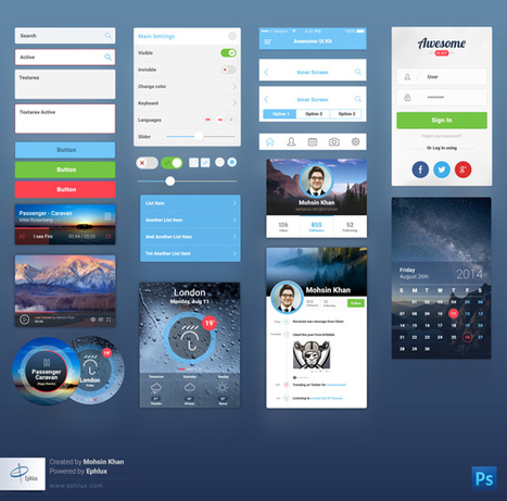 20 Free Web & Mobile PSD UI Kits 2014 | Boost Inspiration | Scoop.it