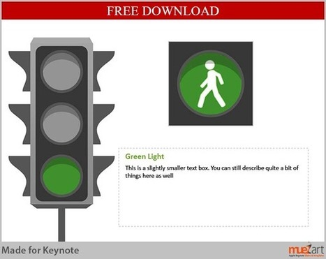 Free Downloadable Keynote Slide - Traffic Signal Analogy | Apple Keynote Slides For Sale | Scoop.it