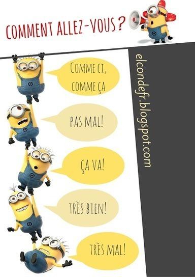 El Conde. fr: Comment allez-vous? | La page des enfants | Scoop.it
