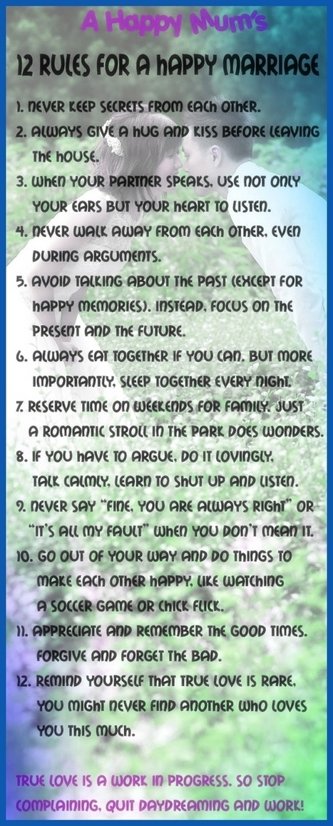 Facts for Women About Husbands to Help Keep a Happy Marriage - Inspir3 | Personal Development & Improvement | Scoop.it