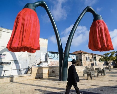 Interactive sculptural flowers provide shade to passengers in Jerusalem - DZine Trip | What Surrounds You | Scoop.it
