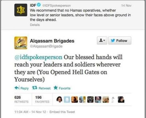 #IDF & #Hamas trade threats via Twitter; IDF Blog Gamifies Social Media War | Tracking Transmedia | Scoop.it