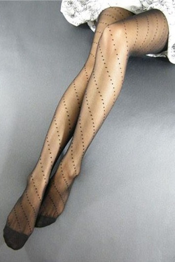 Sexy Dots Embellished Jacquard Weaving Pantyhose | Lingerie Love | Scoop.it