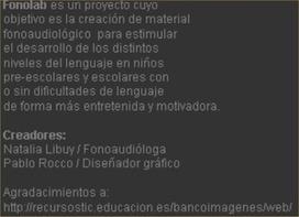 AUDICIÓN Y LENGUAJE: CONCIENCIA FONOLÓGICA (VARIOS RECURSOS) | ATENCIÓN TEMPRANA | Scoop.it