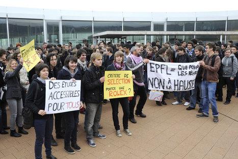 Ils étaient 300 à contester la hausse des taxes d'études   A la découverte des bibliothèques : Lyon - Genève - Lausanne   Scoop.it