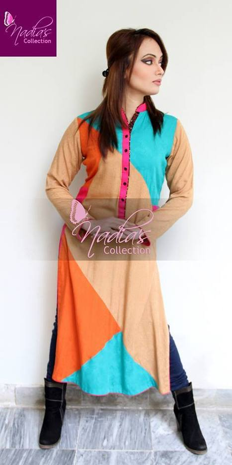 Paki Fashion Casual Summer Dresses 2014 | Nadia's Collection | Style Stylo | Stylestylo | Scoop.it