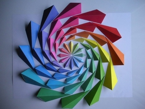 Colorful Origami Flowers Change with Shadows and Light | Made with (and of) Paper | Scoop.it