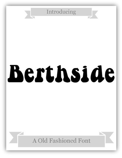 Martiel Beatty: FREE Font of the Week: Berthside | What the Font! | Scoop.it
