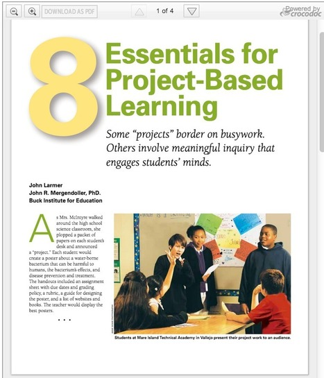 The 8 Essential Elements of Project Based Learning | Pedagogy and Research Theory | Scoop.it