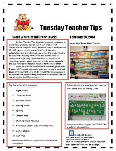 Lines of Literacy: Word Walls for All Grades | Instructional strategies for ELLs | Scoop.it