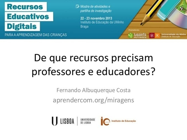 Recursos Educativos Digitais, Fernando Costa, 2013