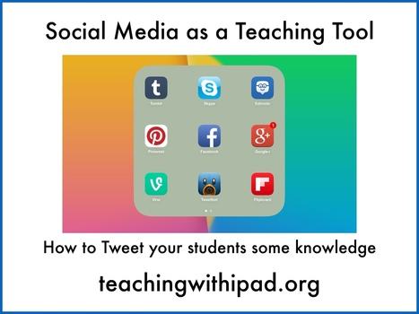 Social Media as a teaching tool: How to Tweet your students some knowledge - teachingwithipad.org | Twitter in de klas | Scoop.it