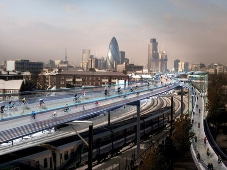 A 137-Mile 'Cycling Utopia' Floating Above London's Rail Lines | Autopia | Wired.com | Sustain Our Earth | Scoop.it