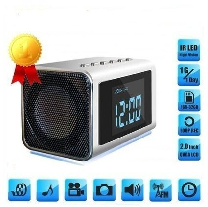 TOP Secret Spy Camera Mini Clock Radio Hidden DVR- Continuous power or battery | Electronics | Scoop.it