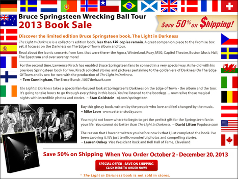 THE LIGHT IN DARKNESS - Bruce Springsteen Book | Bruce Springsteen Limited Edition Book | Scoop.it