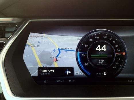2013 Tesla Model S Dashboard Display - Fonts In Use | Tesla UX&UI | Scoop.it