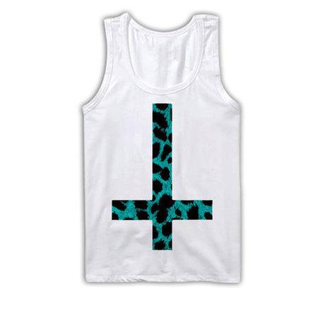 Upside Down Cross Tank Top | Leopard Print TankTop | Crosses Clothing | Nice T-Shirt | Scoop.it