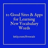 Free Technology for Teachers: 10 Good Tools to Help Students Learn New Vocabulary Words | Adult Reading and Writing Apps | Scoop.it