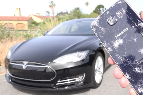 Watch this Tesla Model S Run Over a Samsung Galaxy S6 | Innovative Marketing and Crowdfunding | Scoop.it
