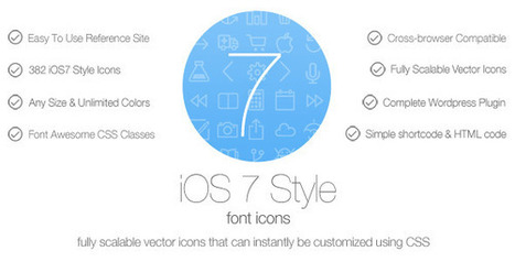 iOS7 Style Font Icons – WordPress Plugin (Utilities) | web-Icons | Scoop.it