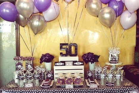 50th Birthday Party Ideas - Guide | Best Birthday Planners | Scoop.it
