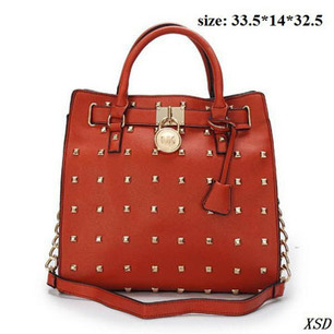 """Studded"" & Large Tan Colorways Michael Kors Hamilton Tote Bags 