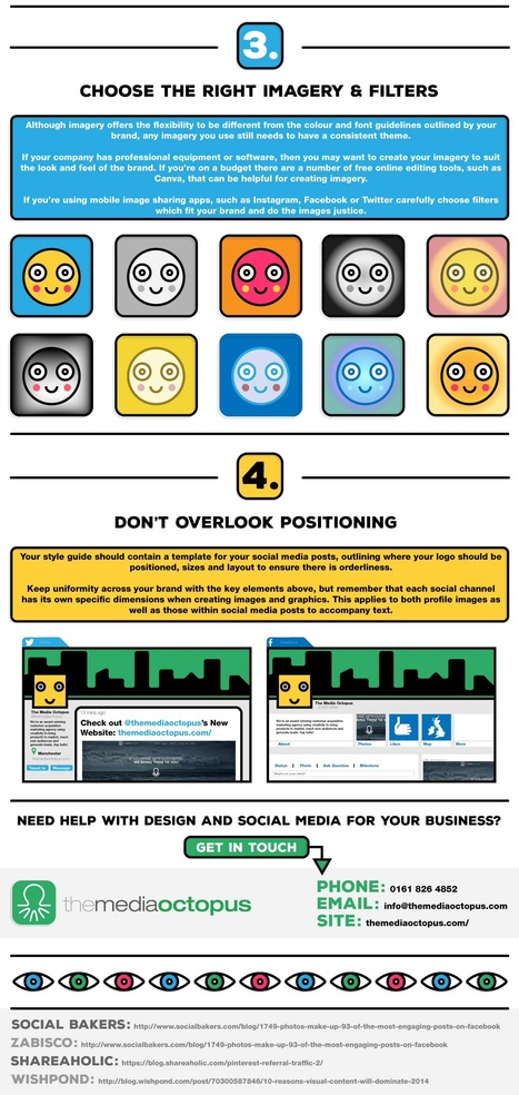 4 Tips for Stunning Social Media Visuals #Infographic | MarketingHits | Scoop.it