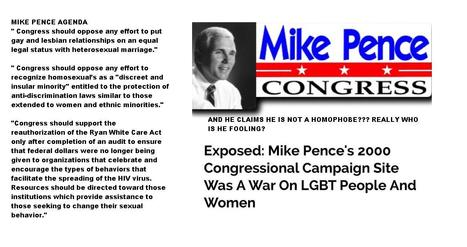MIKE PENCE'S HOMOPHOBE and unchristian agenda in 2000 | THE POOR AND THE BIBLE or Jesus causing class warfare? The causes of the poor is the obligation of government | Scoop.it