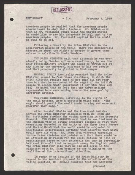 Letter | Yalta Conference | Scoop.it