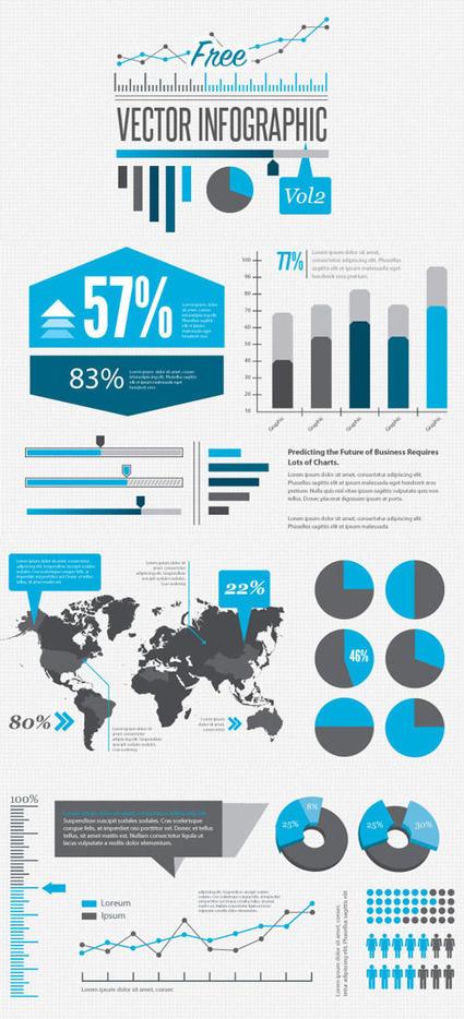 Free Infographics Design Vector Elements   Vector Graphics   Graphic Design Junction   digital marketing strategy   Scoop.it