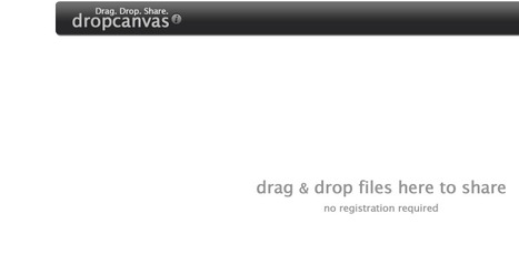 dropcanvas - instant drag and drop sharing - canvas view | Technology Tools for Leo's | Scoop.it