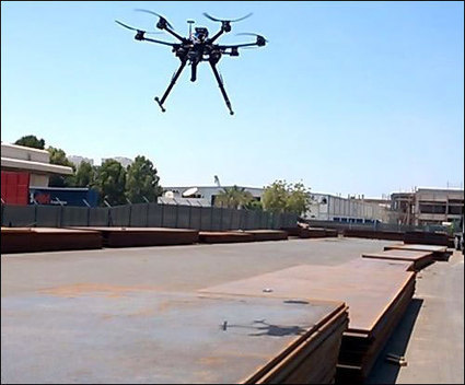 RFID-Reading Drone Tracks Structural Steel Products in Storage Yard - RFID Journal | Futur Factory | Scoop.it
