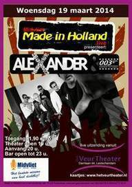 Alexander & 003 in concert: 19/03, Leidschendam. Be there! | Italian Entertainment And More | Scoop.it