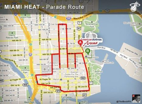 Miami Heat NBA Champions Parade Route | The Billy Pulpit | Scoop.it