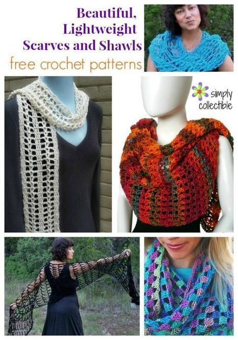 5 Beautiful, Lightweight Scarves and Shawls free crochet patterns | Crochet, Knit, Patterns, and Fiber | Scoop.it