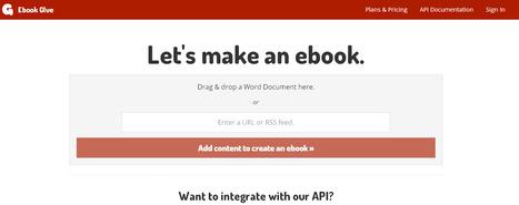Ebook Conversion API | Ebook Glue | Les TIC dans l'Approche Commerciale de l'Imprimeur | Scoop.it