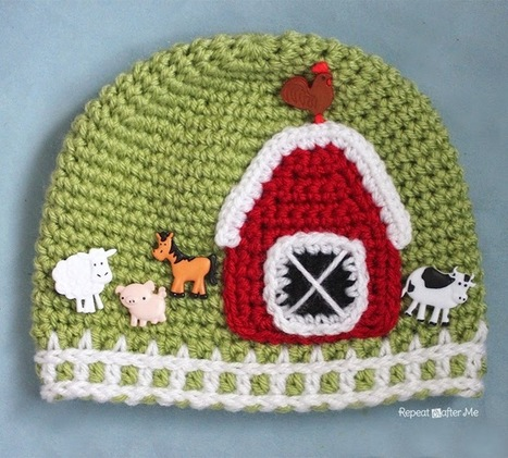Repeat Crafter Me: Crochet Farm Hat with Picket Fence Border | To Crochet or To Knit that is the question | Scoop.it