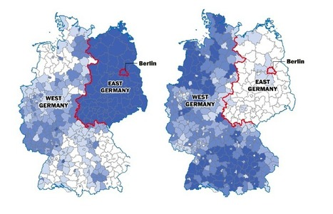The Berlin Wall fell 25 years ago, but Germany is still divided | Geography | Scoop.it