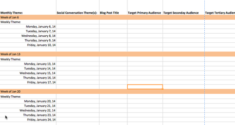Content Marketing Editorial Calendar Template 2014 | The Marketing Nut | The #SocialMedia #Marketer | Scoop.it