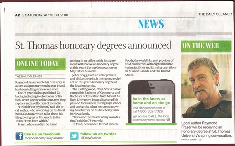 Raymond Fraser to receive honorary degree from STU   ARTICLES   Scoop.it