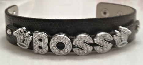 10% Off Stylish Black Boss Leather Slide Charm Bracelet... ON SALE NOW | Handmade Quality Items | Scoop.it