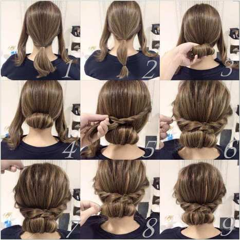 Try This Chic Low Chignon with Braids   Stylish Board   Scoop.it