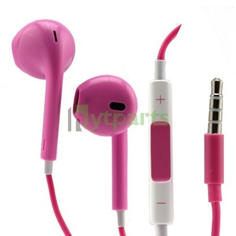 Newest Pink inbox  Headset EARPODS Earphone with Volume Remote & Mic for  iPhone 5 Touch 5 | How to save more money and time | Scoop.it