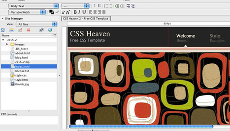 How to edit a website template | CSS Heaven | Software and Services - Free and Otherwise | Scoop.it