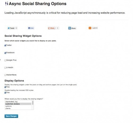 [WordPress] Async Social Sharing, charger les boutons de partage social efficacement - Websourcing.fr | Entrepreneurs du Web | Scoop.it