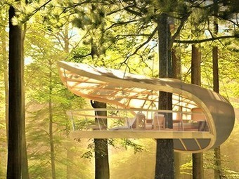 Sailboat-inspired prefab treehouse villa hangs from the trees | Architecture and Architectural Jobs | Scoop.it