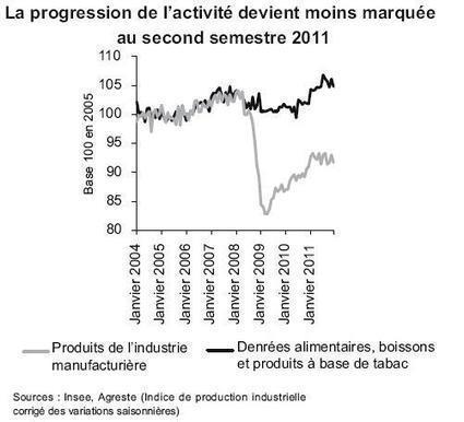 Les IAA voient leur croissance freiner au second semestre 2011. | Actualité de l'Industrie Agroalimentaire | agro-media.fr | Scoop.it
