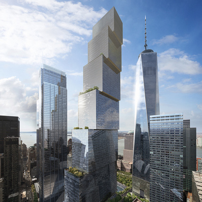 "DRONE video shows progress on NY ""courtscraper"" by BIG 